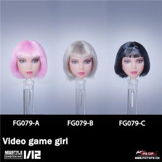 予約 送料無料  1/12 Fire Girl Toys FG079 ビデオゲーム少女 欧米女性ヘッド