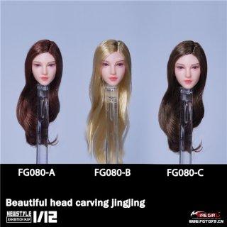 予約 送料無料  1/12 Fire Girl Toys FG080 JINGJING アジアン美人女性ヘッド