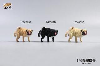 予約 送料無料 1/6 JXK studio JXK069 Leg Lift Pug おしっこ パグ犬