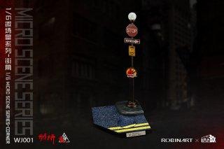 送料無料 予約 1/6 TOYS-BOX WJ001 micro scene series-corner 街コーナースタンド