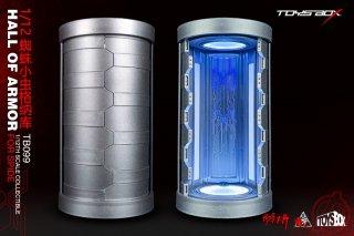 送料無料 予約 1/10 or 1/12 TOYS-BOX TB099 CIRCULAR  HALL OF ARMOR フィギュア保管庫 LEDライト付