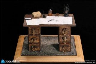 予約 送料無料 1/6 DID E60062 第一次世界大戦英国テーブル地台アクセサリーセット