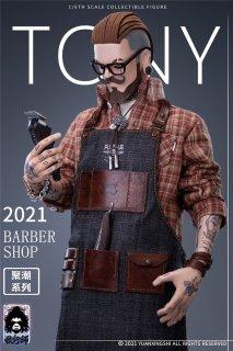 予約 送料無料 1/6 YUANXINGSHI JC-001 Gathering Trend Series First Round---Oil head Barber Tony 欧米男性フルセット