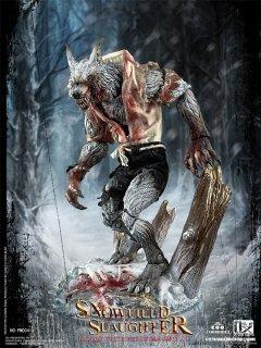 予約 送料無料 1/12 COOMODEL x OUZHIXIANG  PM004 Palmtop Monsters-Snowfield Slaughter Bloody White Werewolf