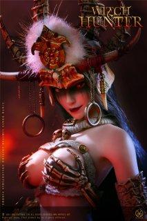 予約 送料無料 1/6 POPTOYS WH002 Bloody Shaman Aphaia White Shaman  シャマン 巫女 アジアン美人女性フルセット