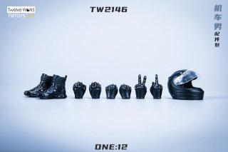予約 送料無料  1/12 TWTOYS TW2146 バイクドライバー用アクセサリーセット