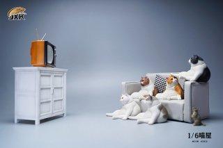 予約 送料無料 1/6 JXK studio JXK087 テレビとテレビ台とソファセット