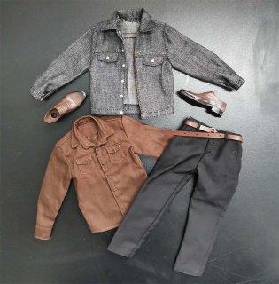 送料無料 1/6 DIY キラー アンドン ノーカントリーキラー 等用男性服と靴セット