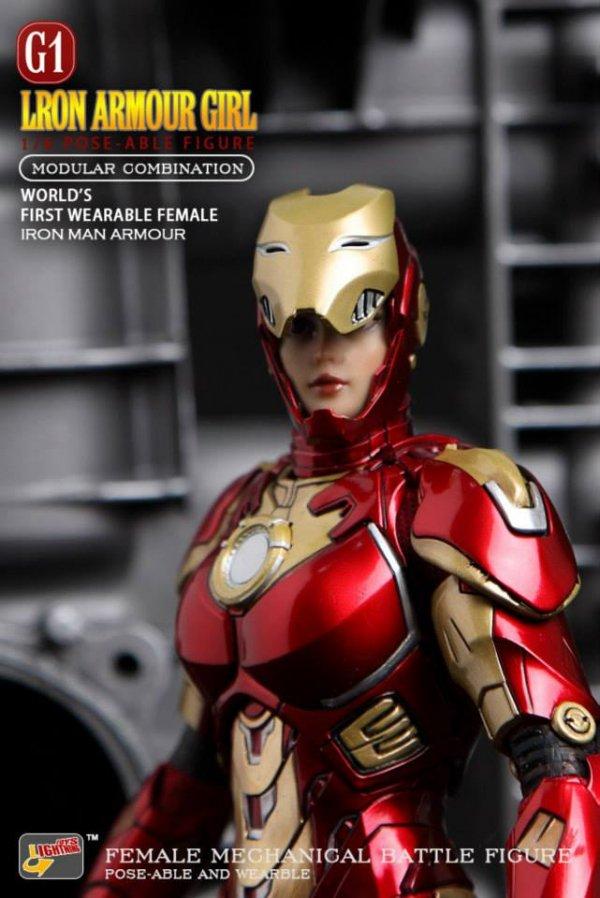 1/6 Lightningtoys  Lron Armuor Girl  美人アルモア ガール アイアンウーマン [Thedragonvault Exclusive Version …