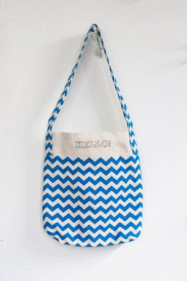 Luika TATE ToteBag Type:B ブルー刺繍入り