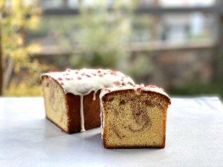 米粉のいちごミルクパウンドケーキ