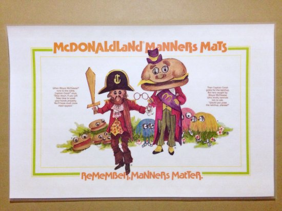 70's McDonald's PlaceMat キャプテンクロック&メイヤーマックチーズ