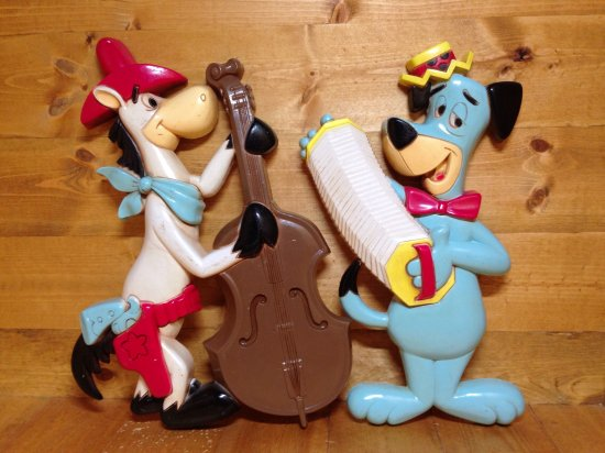 70's HOMCO Huckleberry Hound&Quick Draw McGraw ヴィンテージ壁掛け