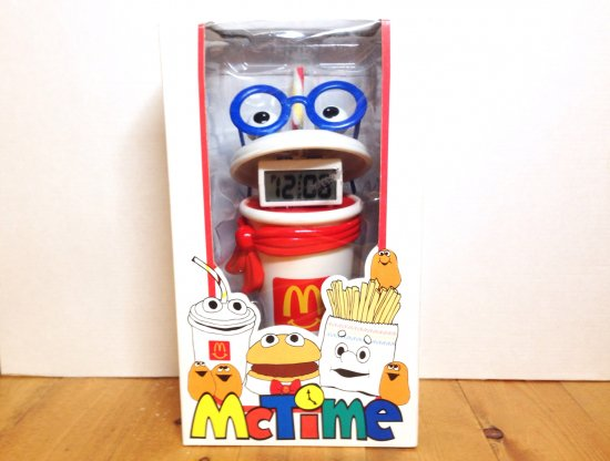 90's McDonald'sマクドナルド McTime LCD Alarm Clock With Coin Bank ワケあり
