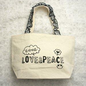 LOVE&PEACEお散歩BAG★かわいいおさんぽバッグ【ドッグウェアならene☆】