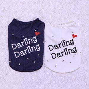Darlingタンク(フリルなし)★ドッグウェア★タンクトップ★【ドッグウェアならene☆】