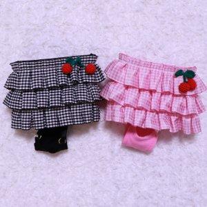 ギンガムチェリーマナースカート★マナーグッズ★【ドッグウェアならene☆】