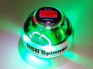 NSDスピナー PB-688LC グリーン デジタルカウンター搭載 LED発光タイプ(グリーン色) 手動式  中級者用 練習用 日常トレーニング向け