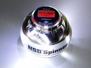 NSDスピナー PB-688LC ホワイト デジタルカウンター搭載 LED発光タイプ(ホワイト色) 手動式  中級者用 練習用 日常トレーニング向け