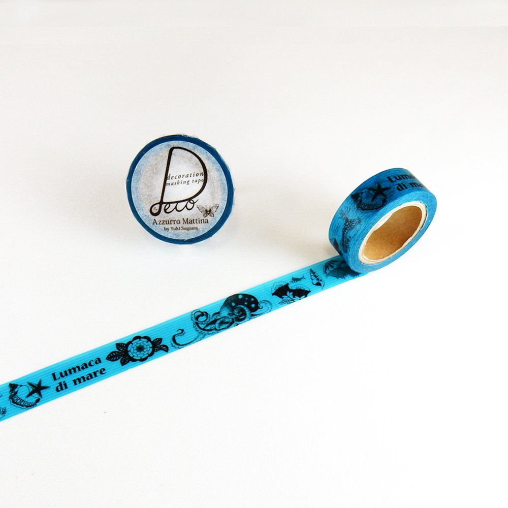 Azzurro Mattina - マスキングテープ / 海のいきもの