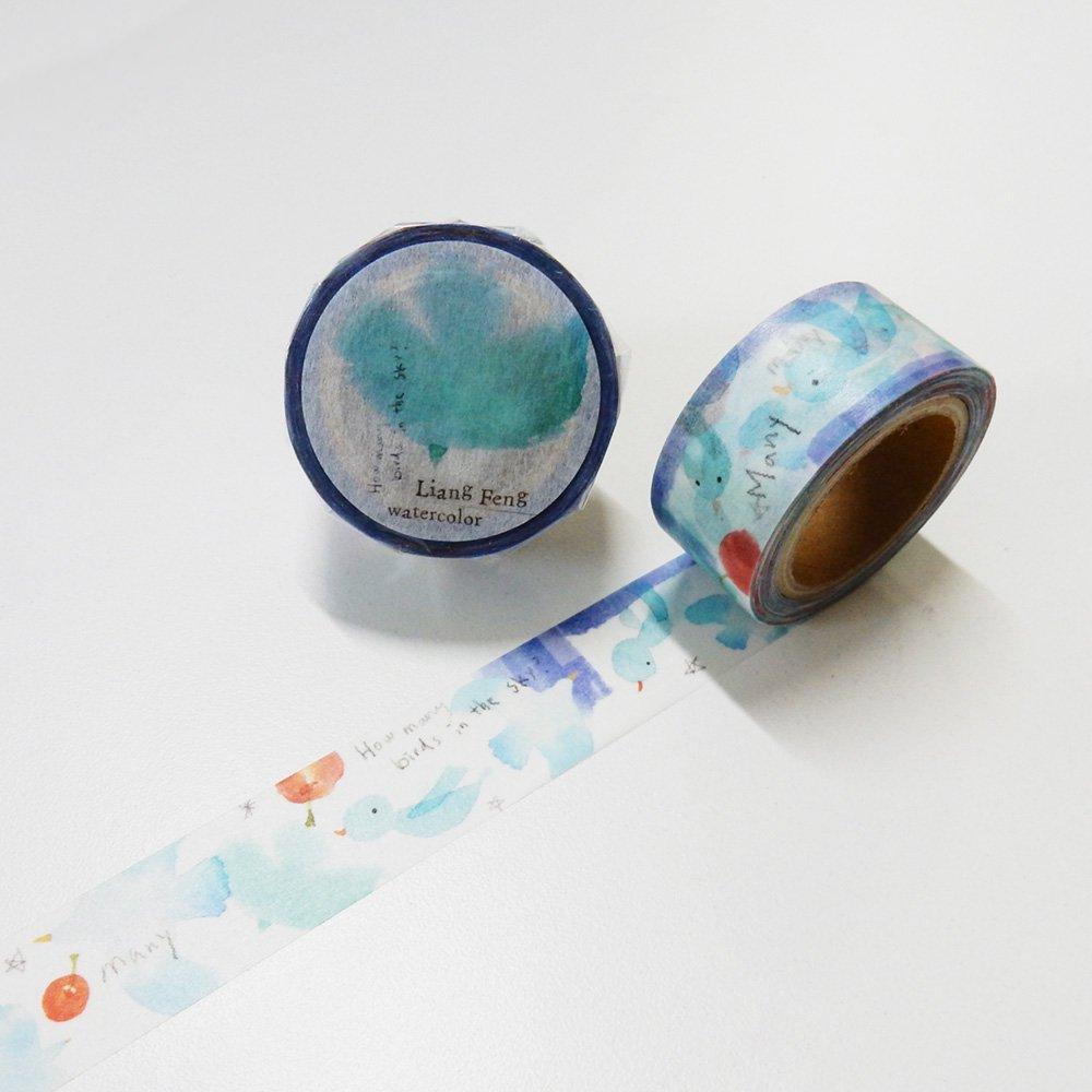 小徑文化×Liang Feng - マスキングテープ / Birds