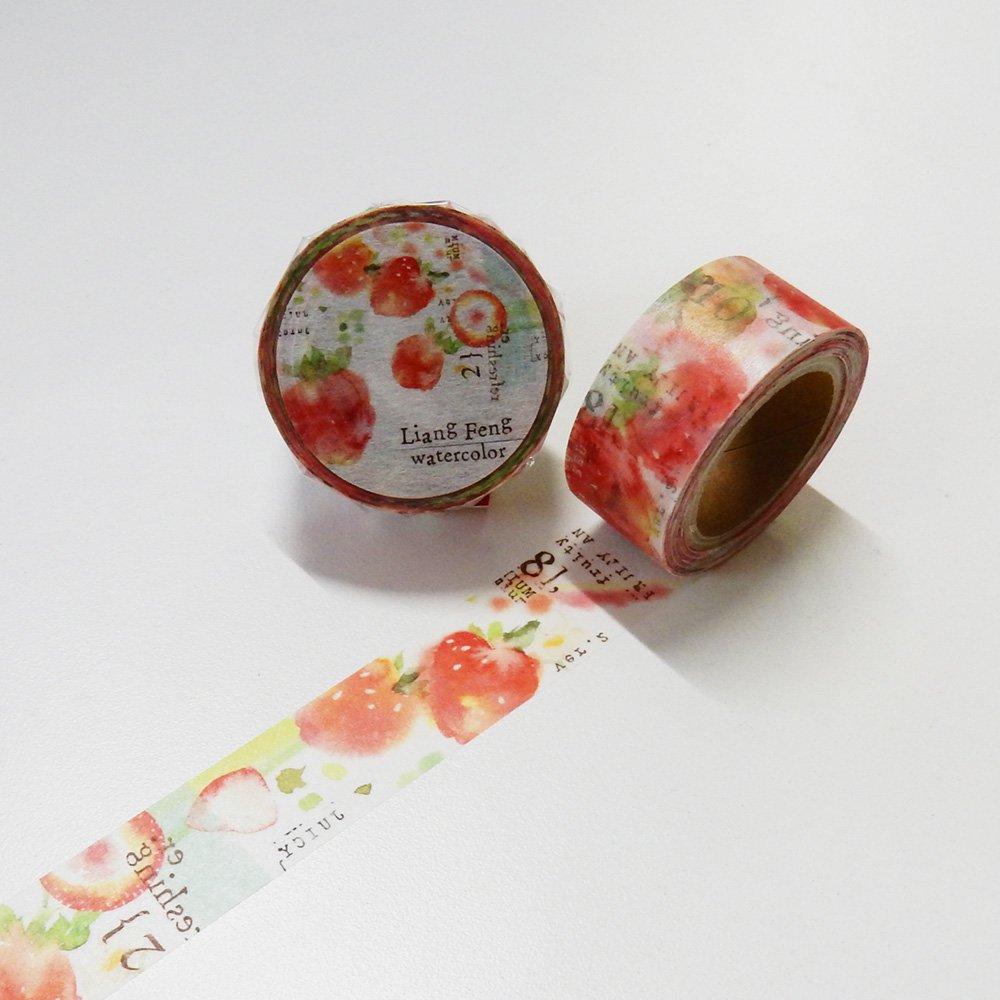 小徑文化×Liang Feng - マスキングテープ / Strawberry Mint