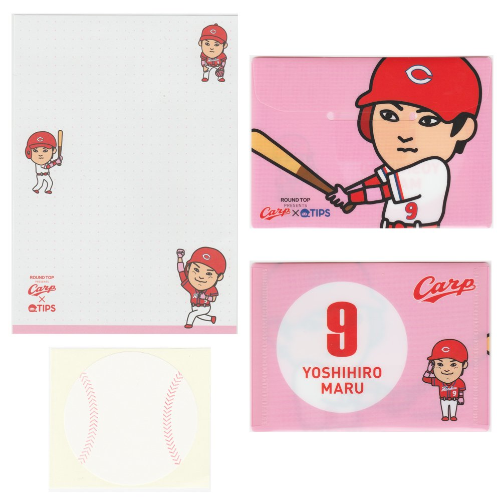 <img class='new_mark_img1' src='https://img.shop-pro.jp/img/new/icons15.gif' style='border:none;display:inline;margin:0px;padding:0px;width:auto;' />CARP×TIPS - レターセット / 丸 佳浩