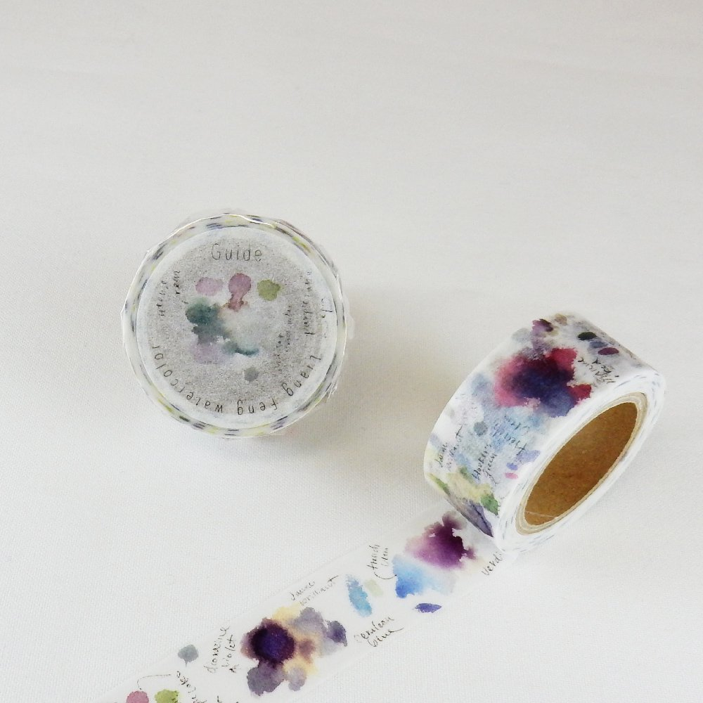 小徑文化×Liang Feng - マスキングテープ / Flower violet