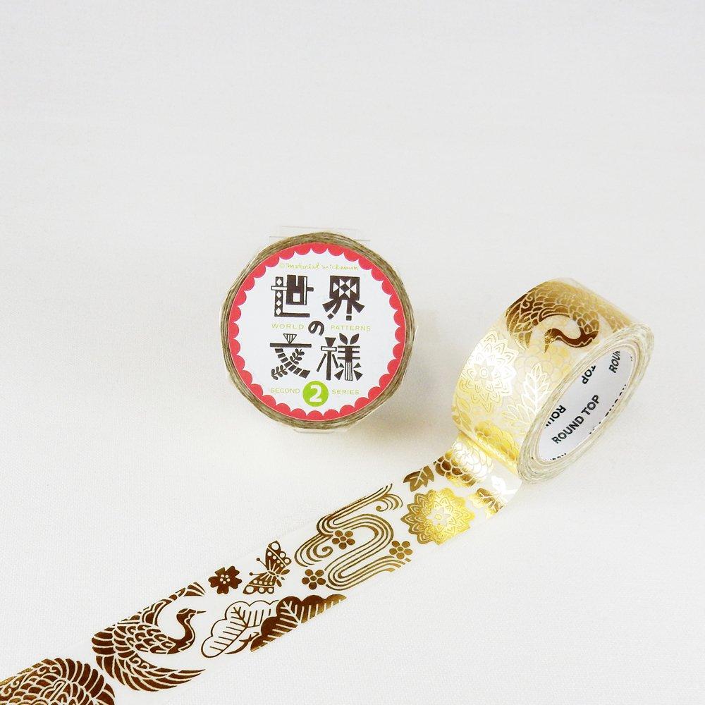 MaterialMichemon - マスキングテープ / 日本 紅型(金箔)
