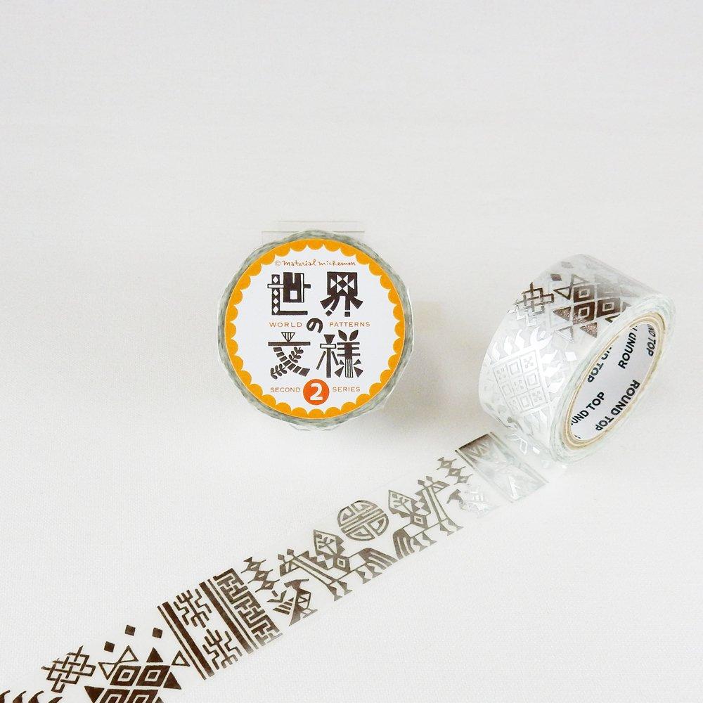 MaterialMichemon - マスキングテープ / ブータン(銀箔)