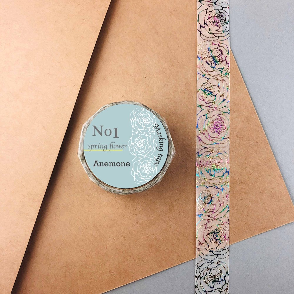 Seasonal flower Masking tape - Anemone
