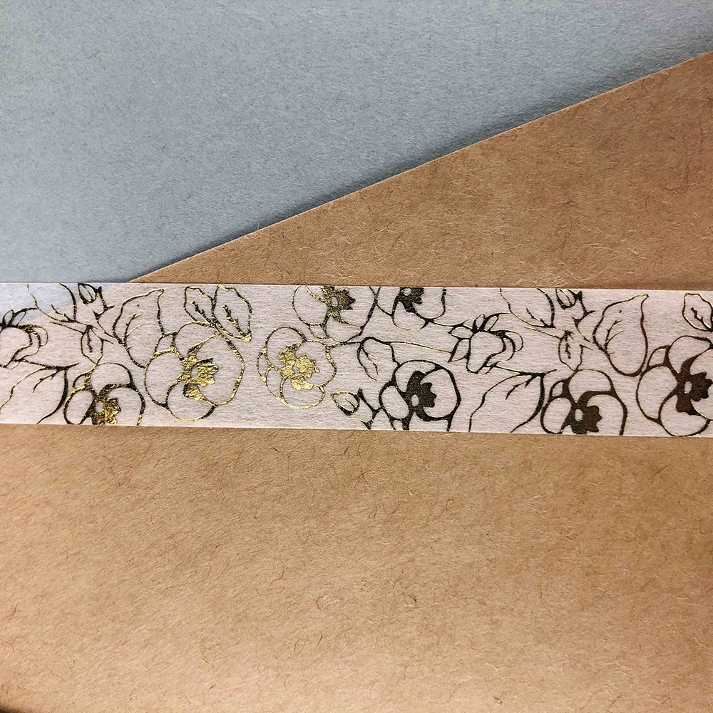 Seasonal flower Masking tape - Pansy