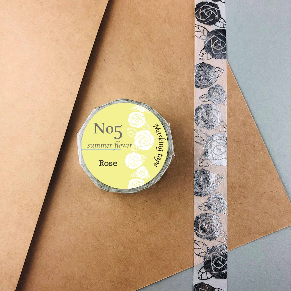 Seasonal flower Masking tape - Rose
