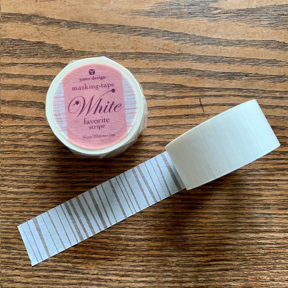 yano design - マスキングテープ White favorit / stripe