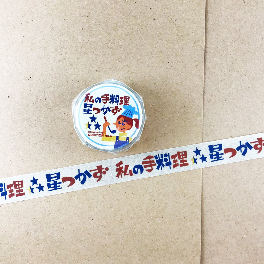 QUESTION NO.6 /女子の言いワケ展 缶バッチマスキングテープ 21