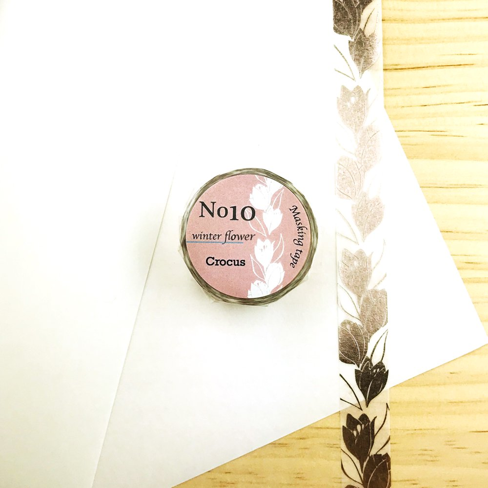 Seasonal flower Masking tape - Crocus