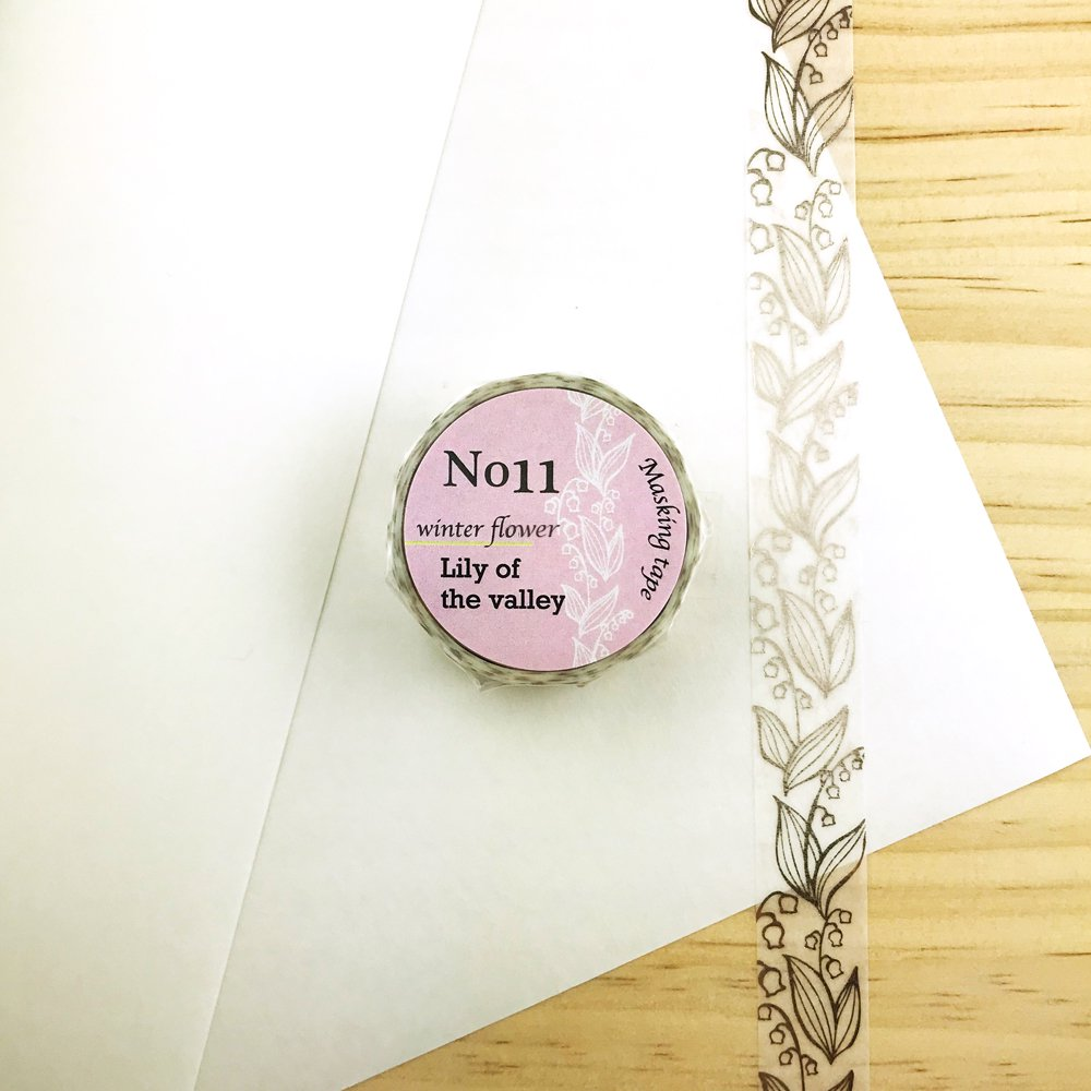 Seasonal flower Masking tape - Lily of the valley