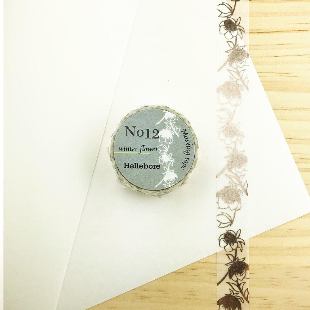 Seasonal flower Masking tape - Hellebore