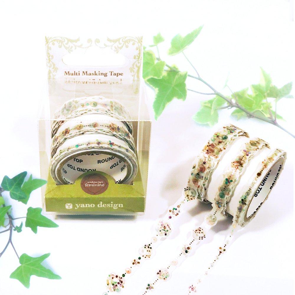 yano design - 箔押しマスキングテープ feminine Multi Masking Tape / Clover:3Aurora