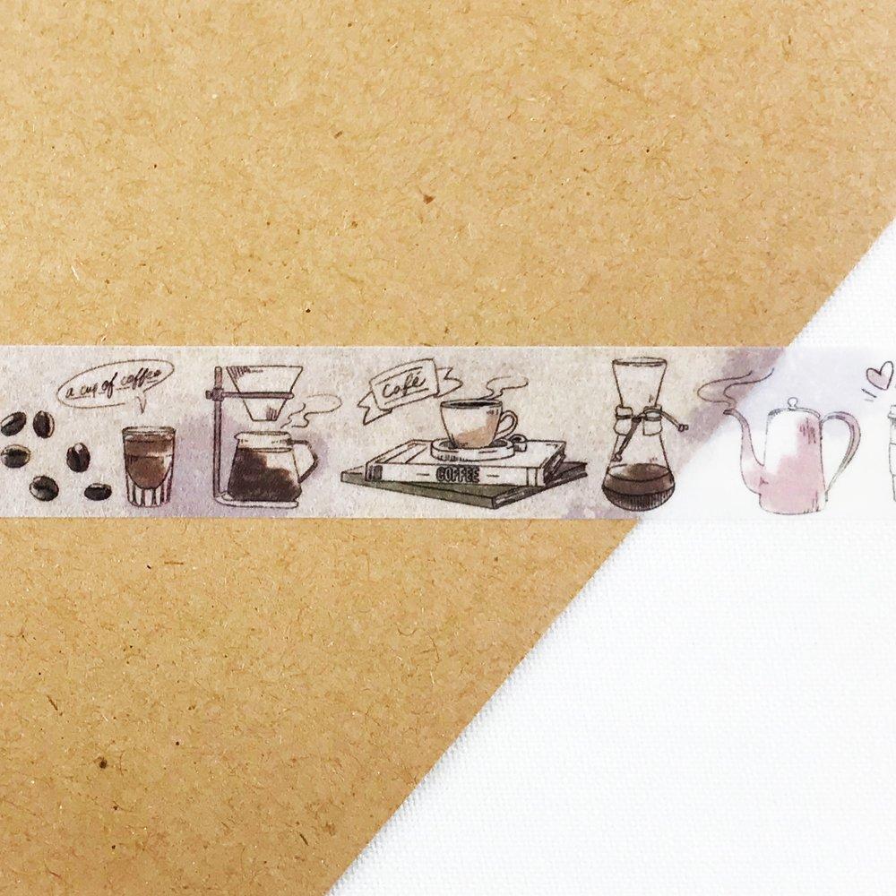 MiriKulo:rer- マスキングテープ DESIGN no.3 / coffee