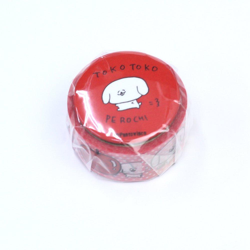 Pantovisco - 缶バッジ付きマスキングテープ / 001