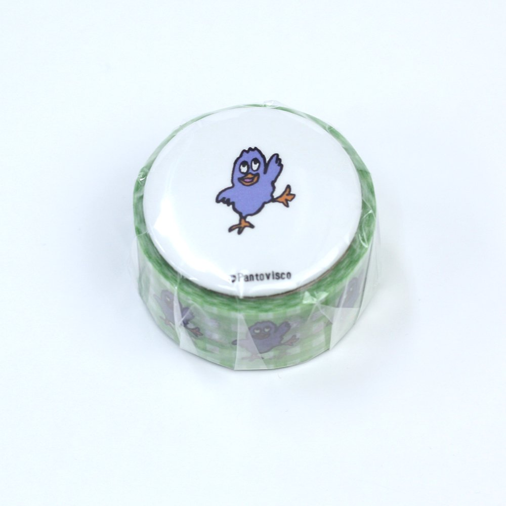 Pantovisco - 缶バッジ付きマスキングテープ / 005