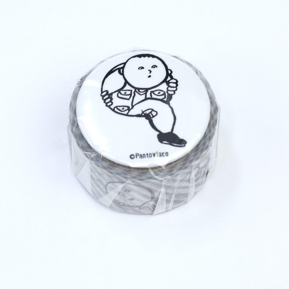 Pantovisco - 缶バッジ付きマスキングテープ / 006