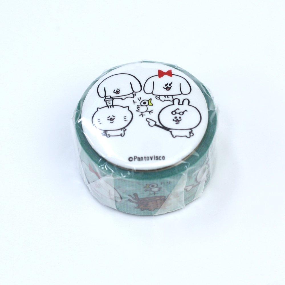 Pantovisco - 缶バッジ付きマスキングテープ / 007