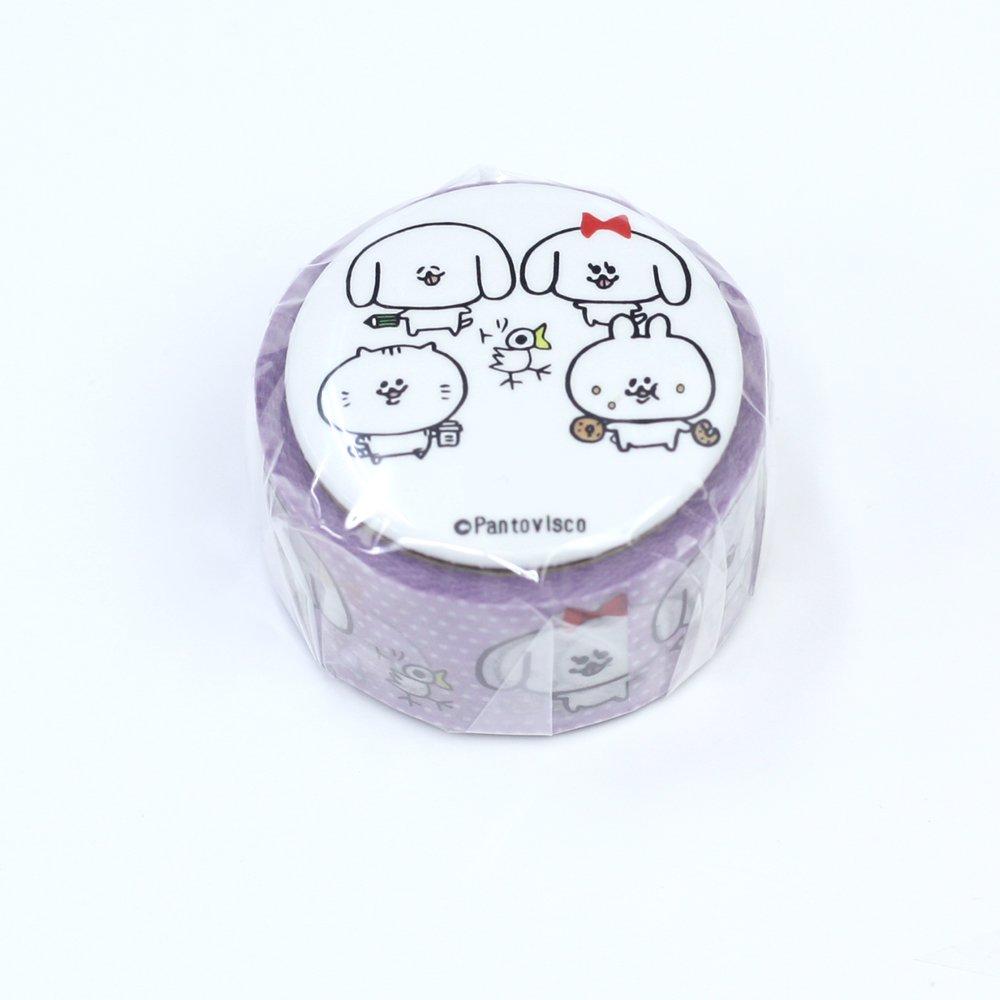 Pantovisco - 缶バッジ付きマスキングテープ / 008