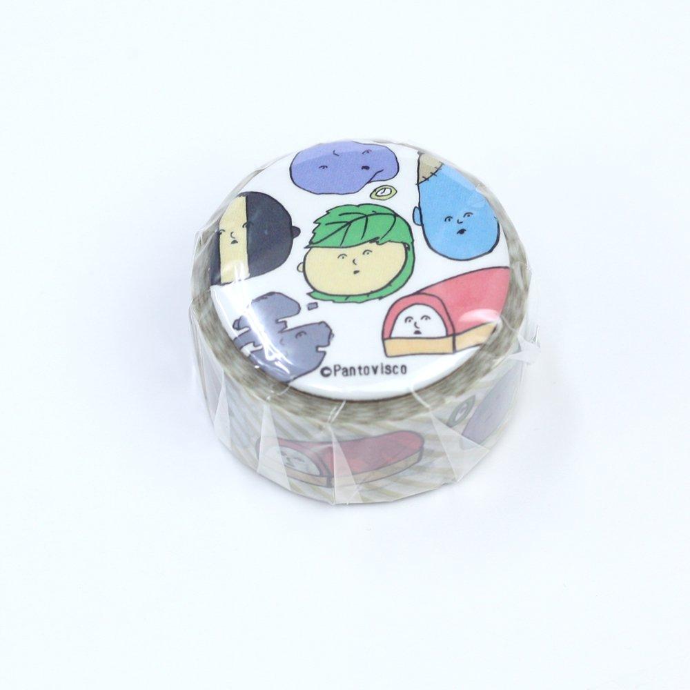 Pantovisco - 缶バッジ付きマスキングテープ / 010