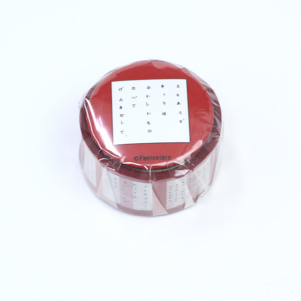 Pantovisco - 缶バッジ付きマスキングテープ / 012