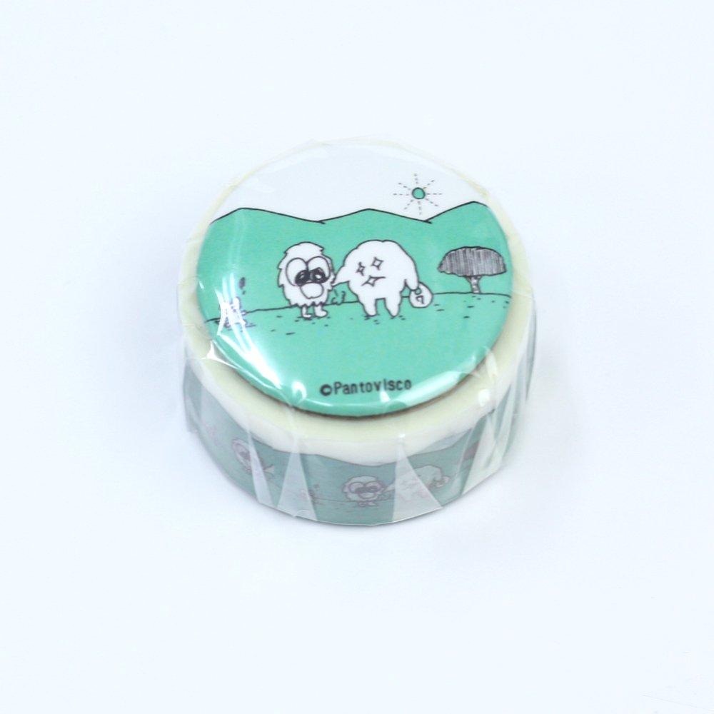 Pantovisco - 缶バッジ付きマスキングテープ / 013