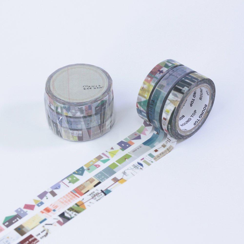 小徑文化×夏米花園 - マスキングテープ - colors of Seasons / 白群 BYAKUGUN