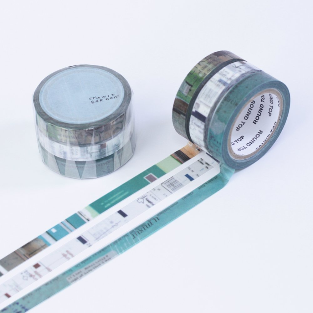 小徑文化×夏米花園 - マスキングテープ - colors of Seasons / 薄青 USUAO